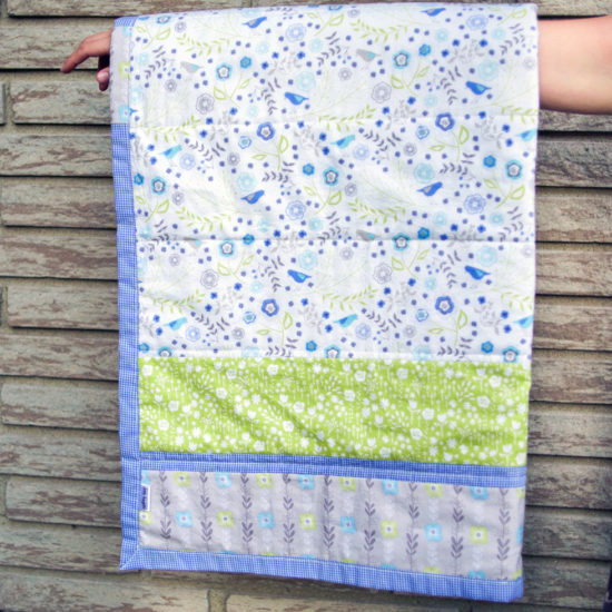 Handmade meadow quilt