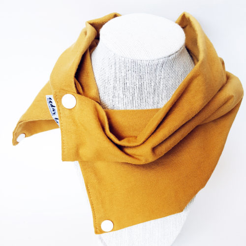 Mustard jersey scarf for baby