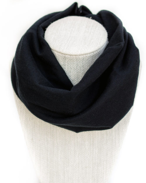 Black jersey baby infinity scarf