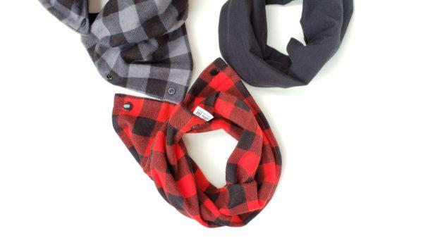 Buffalo check baby infinity scarf