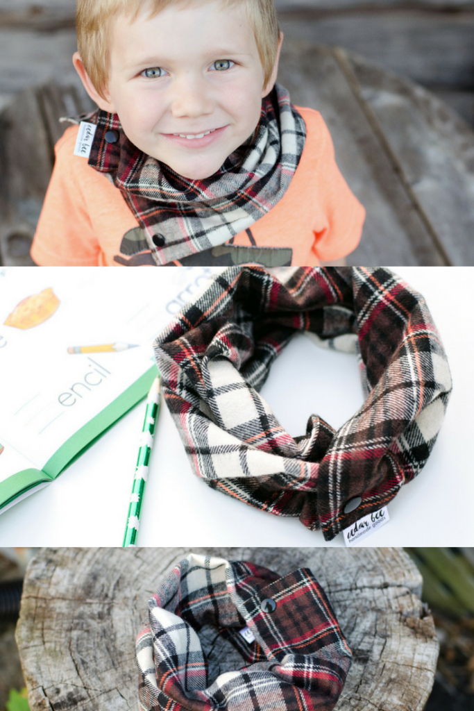 Fall infinity scarf for kids
