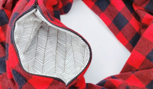 A scarf with a pocket