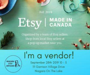 Etsy Made in Canada Niagara