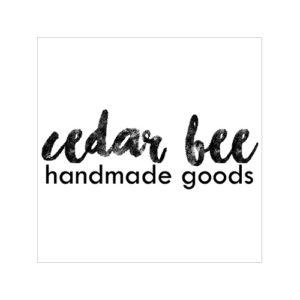 Logo reads Cedar Bee Handmade Goods